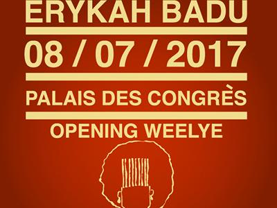 WeeLye Opening Act – Erykah Badu – Palais des congrès Paris